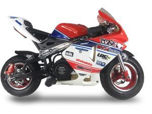SYX MOTO Apex Pull Start 49cc 2-Stroke Gas Powered Kids Mini Pocket Bike, Off-Roading Rocket Motorcycle