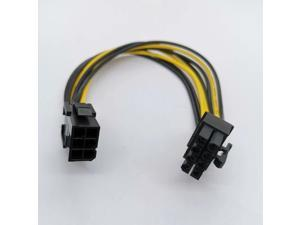 6pcs 18AWG PCI Express 6 pin to 8 pin Power Adapter Cable 6p to 8p PCIe Cable