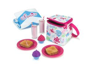 """Sophia's by Teamson Kids Picnic Lunch Accessories Set with Pretend Food, Drinks, Napkins, Blanket and Thermal Cooler for 18"""" Dolls, Multicolor"""