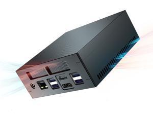 MAIBENBEN 4K MiniPC AMD Ryzen 7 2700U 8G RAM DDR4 512GB PCIE NVME SSD Win 10 HDMI-compatible DP Output 2.4G/5G WIFI Bluetooth AMD Mini PC Ryzen Mini CPU PC27