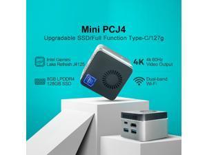 MAIBENBEN 4K Mini PC Intel J4125 Processor, Windows 10 Home Mini Desktop Computer with 8G DDR4 RAM/128GB, Gemini Lake Refresh/UHD Graphics 600/Support 4K HD HDMI Display, Type-C Dual-band WiFi & BT