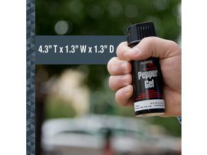 SABRE RED Tactical Pepper Gel  Safer Maximum Police Strength, Spray 18-foot Range - with Belt Clip