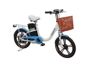 """Wheegreen Women & Men Electric Bike, 400W Motor 2.1""""Wide Tire Ebike 36V 12AH Removable Battery Electric Scooter Extra Wide Soft Foam Seat & Built-in Lock Simple City Bicycle for Adults. Made in TAIWAN"""