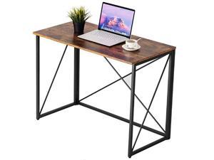 39 Inch Computer Desk Small Desk for Small Spaces Modern Simple Writing Desk for Home Office Study Desk wood color desk, console, worktable, breakfast table, wild dining table