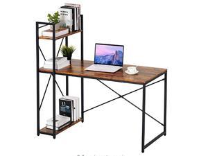 """Office computer desk 47.25"""" W x 23.63"""" D x 47.25""""H the Load Capacity is about 200 Pounds Perfect Game Table Desk Wood Color Able Curve Design for Husband Female Gift"""