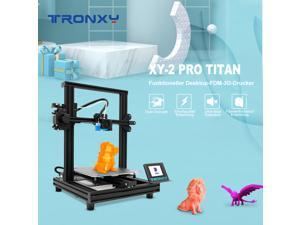 Tronxy XY-2 Pro Titan 24V quick installation 3D printer 3.5-inch full-color touch screen can print flexible consumables Print size 255X255X245MM