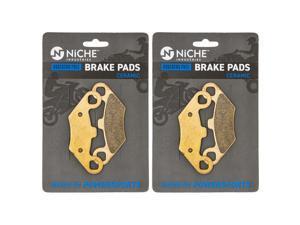 NICHE Ceramic Front Rear Brake Pad Set for Polaris 2202412 2200465 2201398 2203452 2 Pack
