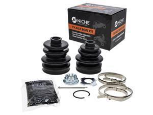 NICHE Rear CV Axle Boot Kit For Suzuki King Quad 700 LT-A700X Replaces 64931-31G03 64930-31G03
