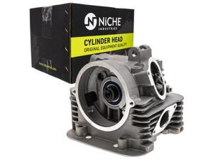 NICHE Cylinder Head and Valve For 1998-2004 Yamaha Bear Tracker Timberwolf 250 YFB250 4G0-12114-01-00 4G0-12113-01-00