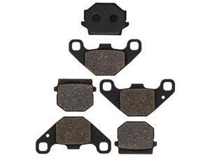 NICHE Brake Pad Kit for Yamaha Grizzly 300 1SC-F5805-00 1SC-F5806-00 Complete Semi-Metallic