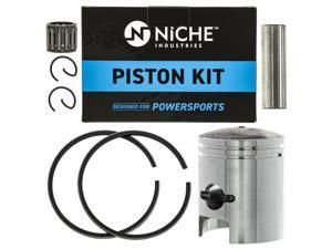 NICHE Piston Kit For 1979-2006 Suzuki Kawasaki JR50 Quadrunner Quadmaster 13001-S004 12100-35611-050 12110-35614-0F0