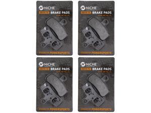 NICHE Brake Pad Set for Harley-Davidson Dyna Softail Rocker 42298-08 44082-08 Front Rear Semi-Metallic 4 Pack