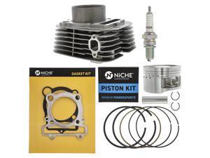 NICHE 348cc Engine Piston Cylinder Top End Kit for 1987-2011 Yamaha Big Bear Bruin Grizzly Raptor Warrior Wolverine