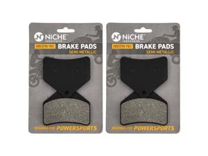 NICHE Brake Pad Set for Arctic Cat T500 Firecat 500 600 700 M1000 Lynx 2000 0702-563 Rear Semi-Metallic 2 Pack