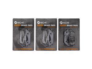 NICHE Brake Pad Set for Honda CBR650F CB650F BMW C650 Sport 34118524942 06435-MGZ-J01 Complete Semi-Metallic
