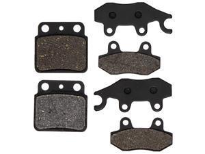 NICHE Brake Pad Kit for Suzuki Quadracer 450 69100-01810 59100-09870 59100-09860 Complete Semi-Metallic