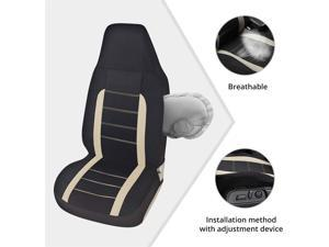 2 PCS Fashion Style High Back Bucket Gray Car Interior Front Seat Protector Cover
