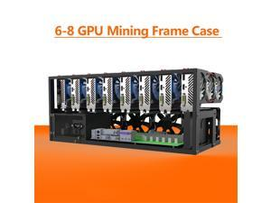 6/8 GPU Open Air Mining Rig Frame Case Computer Crypto Coin Fit ETH BTC Ethereum