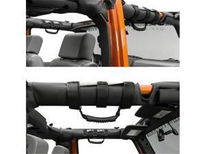 4PC Black ABS Car Anti-roll Bar Grip Handle For Wrangler CJ YJ TJ JK Accessories