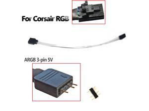 20cm 3-Pin 5V A-RGB Adapter Female For Corsair Lighting Node Pro & Commander Pro
