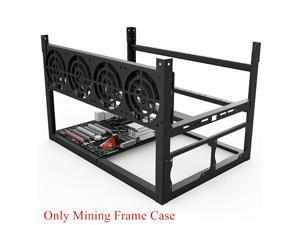 Stackable For ETH BTC Ethereum 6 / 8 GPU Open Air Mining Rig Computer Frame Case