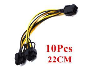 10PCS PCI Express 6 pin Female to Dual 8pin Male PCIE GPU Card Power Cable Adapter