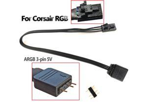 3-Pin 5V ARGB A-RGB Adapter 20cm For Corsair Lighting Node Pro & Commander Pro