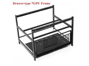 6/7 GPU Open Air Mining Rig Pull-out Design Computer Case Miner Frame Rack For ETH BTC Ethereum Computer Crypto Coin