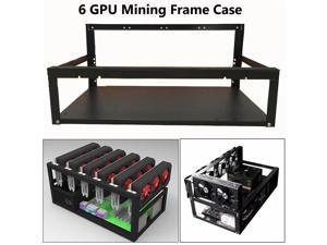 For ETH Ethereum 6/8 GPU Open Air Mining Rig Frame Case Computer Crypto Coin