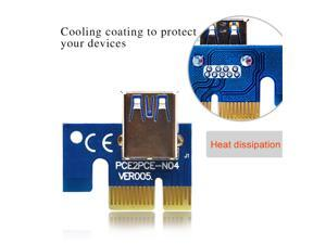10Sets 006C PCI Express 1 to 16 PCIE Riser Card Board USB 3.0 to 6Pin BTC Mining