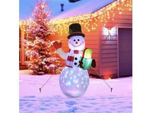 Christmas 5FT Inflatable LED Light Up Snowman Santa Decoration for Outdoor