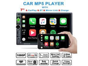 2 Din 7 Inch Touch Screen Car Stereo Radio mp5 Player CarPlay BT  with Camera