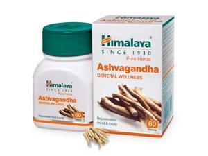 Himalaya Ashvagandha - General Wellness Tablets, 60 Tablets   Stress Relief   Rejuvenates Mind & Body
