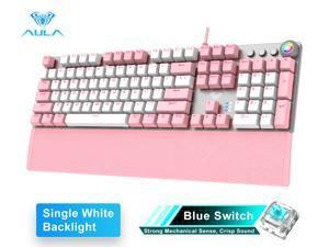 AULA F2058/F2088 Mechanical Gaming Keyboard wrist rest Multimedia Knob, Marco Programming metal panel LED Backlit keyboard for Computer Gamer