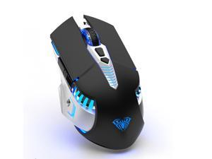 AULA SC200 Bluetooth Gaming Mouse Rechargeable, Built-in 800mAh Battery, 3 Mode(BT5.0, BT3.0 & 2.4G) Switch 3 Devices, Ergonomic Wireless Gaming Mice, for MAC Laptop/Desktop/Tablet/Cellphone