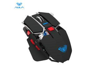 AULA SC300 Rechargeable 2.4G Wireless Mouse Smart Sleep Power Saving and 4 Cool Lights Effect for laptop