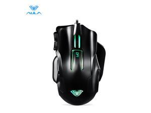 AULA 9006 Wired Professional Gaming Mouse Death Coil 10-Key Programmable 8200DPI Mouse for Computer