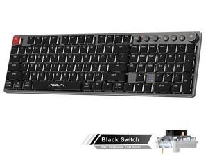 AULA F2090 Mechanical Gaming Keyboard Ultra-thin 104 Keys with 3 Modes(wired+2.4G+bluetooth) Easy-Switch Suitable for PC/MAC/I0S/ Android /Windows