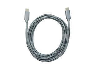 USB-C to USB-C Braided Cable - 6 ft
