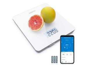 RENPHO Digital Food Scale, Kitchen Scale with Smartphone App for Baking, Cooking and Coffee Scale with Nutritional Calculator for Keto, Macro, Calorie and Weight Loss, White