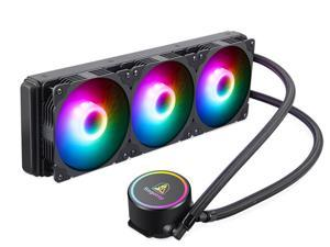 Segotep 360mm Radiator, Integrated CPU Liquid Cooler, CPU Water Cooler with Multi-Color RGB Lighting, 3 120mm PWM Silent Fans, RGB Water Cooling System Water Cooling Kit for Intel/ AMD