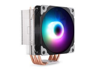 Segotep CPU Cooler, 5 CDC Heatpipes, Quiet 120mm PWM Fan, RGB Edition CPU Air Cooler, Aluminum Fins Heatsink, Hydraulic Bearing, RGB Lighting Water Cooling Kit for AMD AM4 /Intel LGA1151