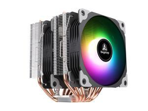 Segotep Dual Tower CPU Cooler, 6 Heatpipes, Quiet 2X120mm PWM Fan, ARGB CPU Air Cooler, Aluminum Heatsink, Two Pressure-Optimised Fans, ARGB Lighting Water Cooling Kit for AMD/Intel