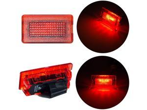 HYUGA Interior Light Bulbs 3-12V  Electric Car Lamp fits TesIa Model X  Model S   Model 3 (RED)
