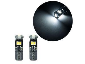 HYUGA 10x T10 168 921 W5W 2835 6 SMD LED White Interior License Plate Parking Light Bulb Lamp (T10 194 168 W5W)