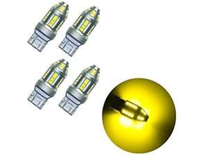 HYUGA 4 x REAL Golden Yellow 2835 10 SMD AUTO LED Signal Turn Side Marker Bulb 9-30V T20 7443 7440
