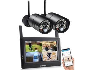SEQURO GuardPro Wireless Security Camera System with 7 Inch Monitor