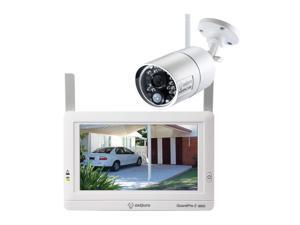SEQURO Wireless Security Camera System with Monitor, GuardPro2 Weatherproof Outdoor Night Vision 1080P and Portable Touchscreen (7-inch)