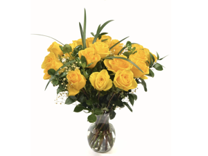 Maya's Flowers - 18 Fresh Yellow Roses