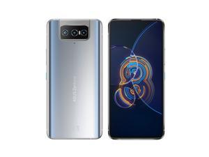Asus Zenfone 8 Flip | 8G/128G | ZS672KS | Snapdragon 888 | unlocked 5G smartphone | GSM Only, No CDMA | Google Play installed | Global version | Glacier Silver